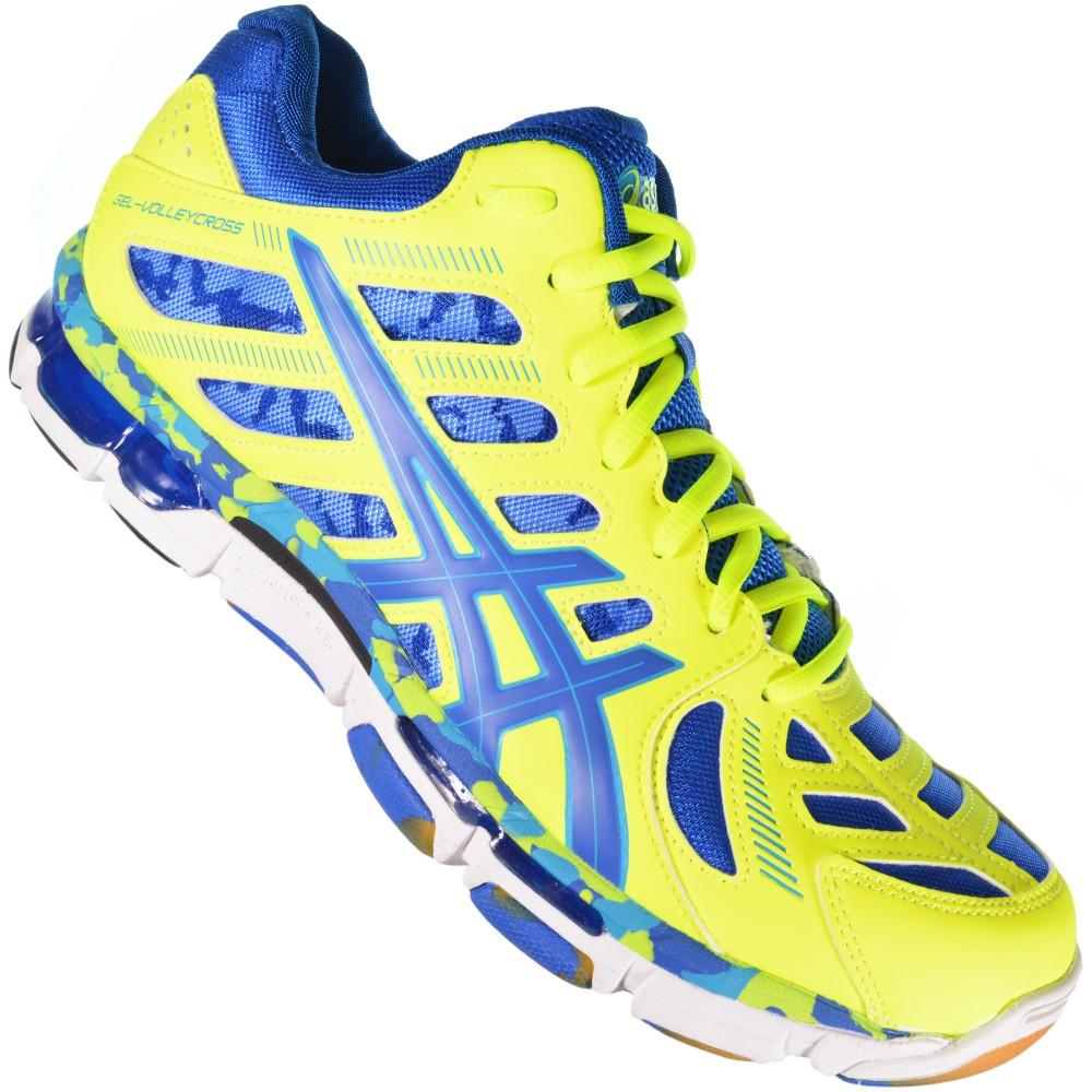 c3719f9366b Tênis Asics Gel-Volleycross B305Y-0459 - Verde Azul - Atitude ...