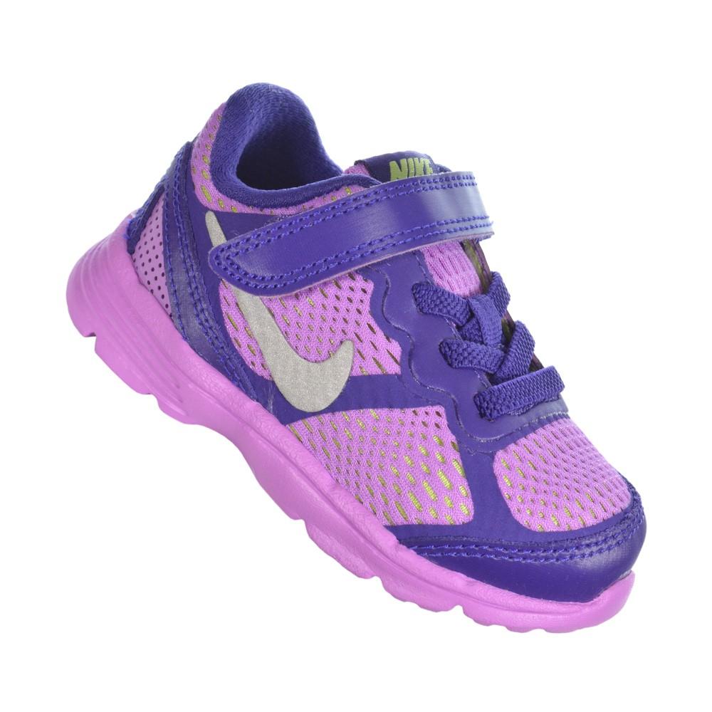 ed9953f32f Tênis Nike Kids Fusion Run 3 (TDV) 654147-503 - Roxo Rosa - Atitude ...
