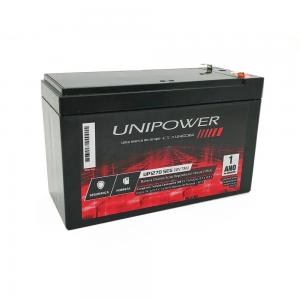 Imagem - Bateria 12V 7Ah Selada para Nobreak Alarme VRLA e Sistema de Segurança Unicoba Unipower  cód: 10360