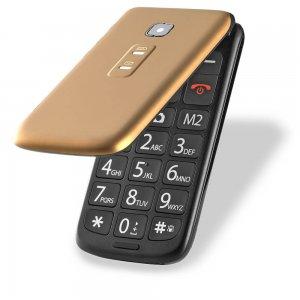 Imagem - Celular Flip Vita Multilaser Dual Chip Mp3 Dourado cód: 10492