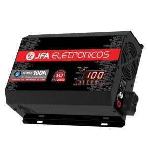 Imagem - Fonte Automotiva JFA SCI 100A - Bivolt - Voltímetro e Amperímetro cód: 04049