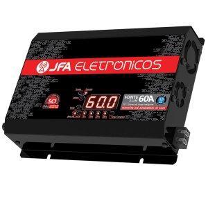 Imagem - Fonte Automotiva JFA SCI 60A - Bivolt - Voltímetro e Amperímetro cód: 07460