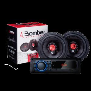 Imagem - Kit De Som Para Carro Rádio Bluetooth Mais Alto Falante Bomber 6