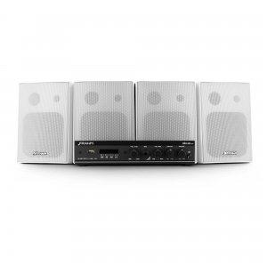 Imagem - Kit Sonorização Frahm Slim 800 APP 30W RMS Caixas PS200 Branca cód: 10127