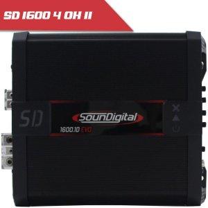Imagem - Modulo Soundigital SD 1600 EVO II BLACK - 1 Canal – 1600 Watts RMS – 4 Ohms cód: 07873
