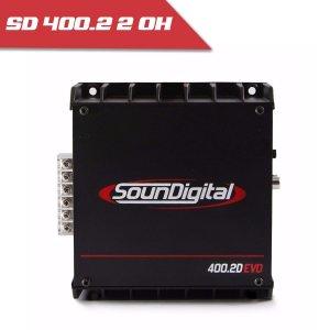 Imagem - Modulo Soundigital SD 400.2 EVO II BLACK - 2 Canais – 400 Watts RMS - 2 Ohms cód: 08105