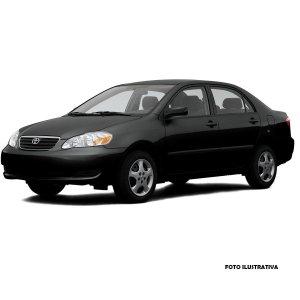 Imagem - Moldura 2 Din Corolla 2003 a 2007 Fiamon - Preto cód: 04726