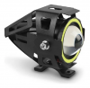 Kit Farol de Milha Universal LED U7 Angel Eyes Com Controle  2