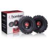 Kit De Som Para Carro Rádio Bluetooth Mais Alto Falante Bomber 6