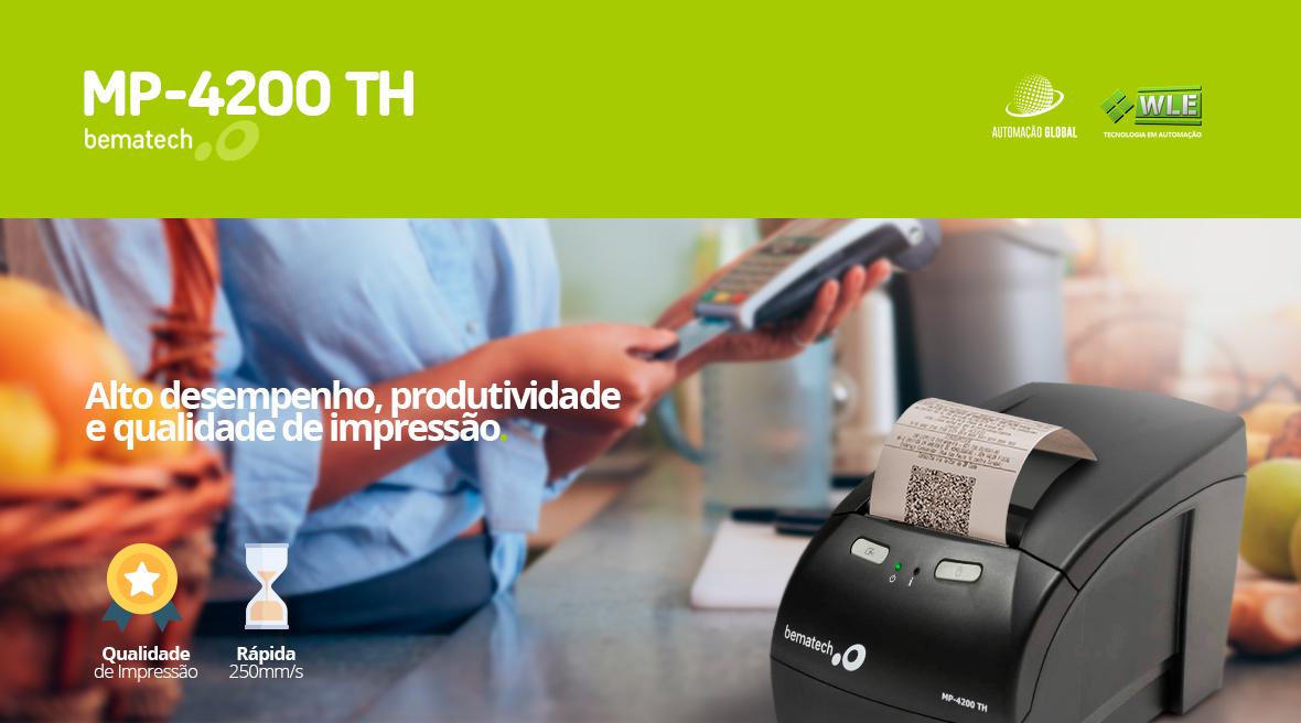 Impressora Térmica Bematech MP-4200 TH Não Fiscal