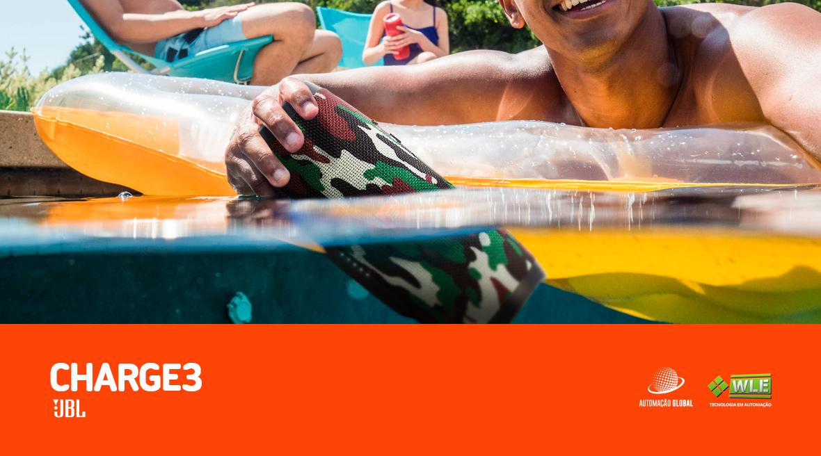 Caixa de SomBluetooth À Prova D'Água JBL CHARGE3 Camuflado