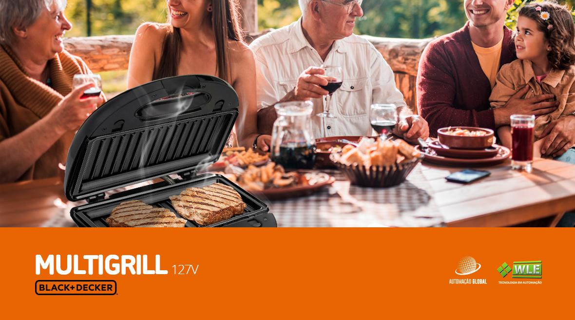 Multi Grill 3 em 1 Black Decker 127V MULTIGRILL