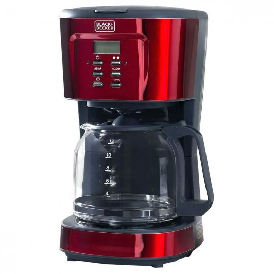Cafeteira Elétrica Vermelha Black Decker Programável 1.5L CMP-B2 900W 220V