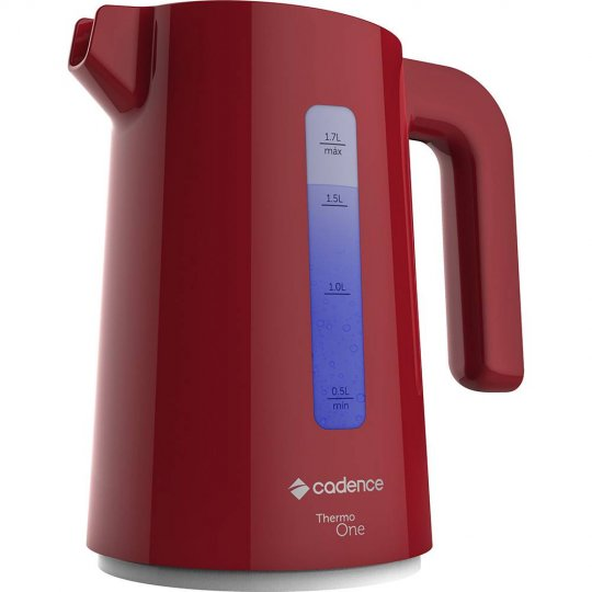 Chaleira Elétrica Cadence Thermo One Colors Vermelha 1,7L CEL381 1200W 127V