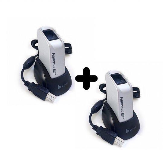 Kit 2 Leitores Biométricos Fingkey Hamster DX Nitgen