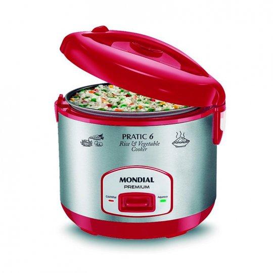 Panela Elétrica Pratic Rice 6 Xic Red Premium Mondial PE-35 400W 110V