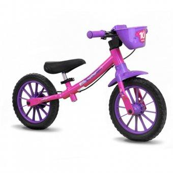 Bicicleta Nathor Balance Bike Feminina