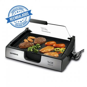 Chapa Mondial Due Grill Inox Premium G-10 1270W 220V Outlet