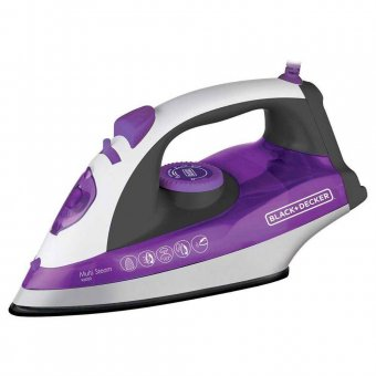 Ferro a Vapor Black Decker Roxo Base Ceramic Plus X6000-BR 1200W 127V