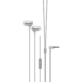 Fone de Ouvido com Microfone Xtrax Prata SLR 801128