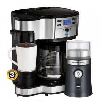 Kit Cafeteira 2 Way 49980 + Moedor Ajustável 80393 Hamilton Beach 127V
