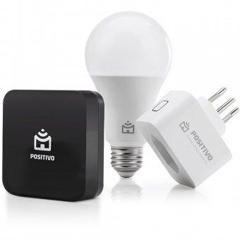 Kit Casa Conectada Positivo Lâmpada Wi-Fi