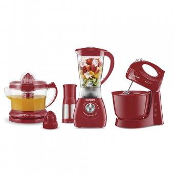 Kit Gourmet Mondial Vermelho KT-70 220V