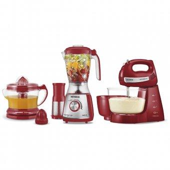 Kit Mondial Gourmet Premium Inox Vermelho KT-74 220V