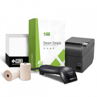 Kit Smart Simple + Impressora Epson TM-T20 USB + Leitor Elgin Flash CCD + Bobina 80X40