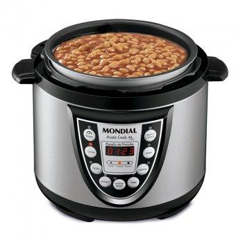 Panela de Pressão Elétrica Pratic Cook 4L Premium Mondial PE-09 800W 110V