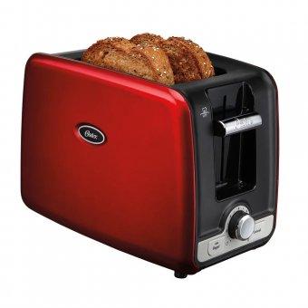 Imagem - Torradeira Oster Square Retro Toaster Vermelha WA2R-057 680W 220V