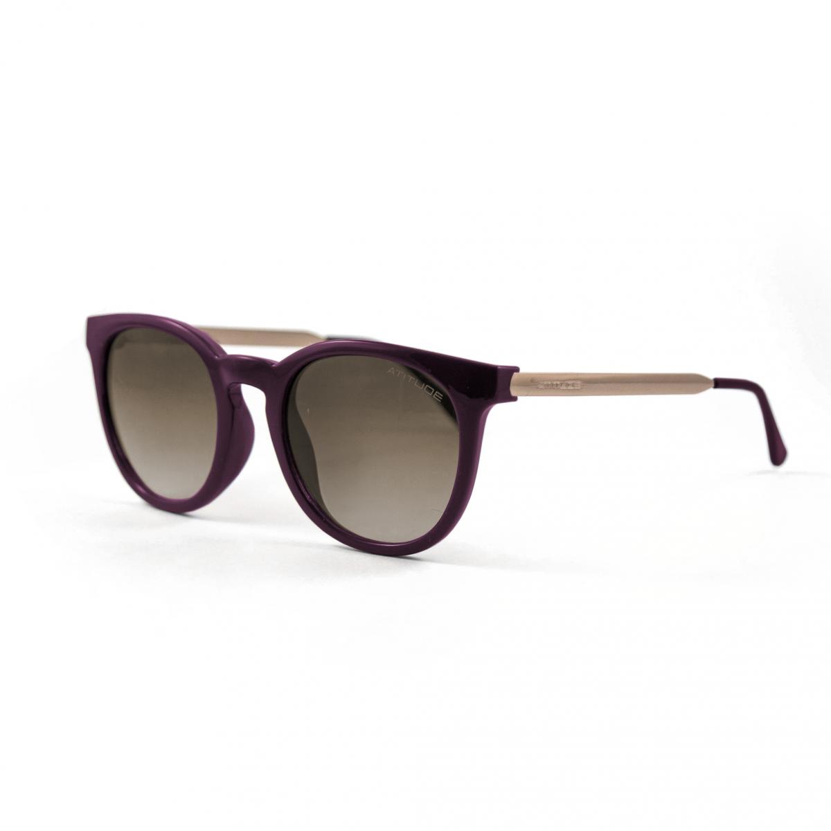 e07ef5d8d5d59 Óculos de Sol Atitude Roxo AT5220 Feminino