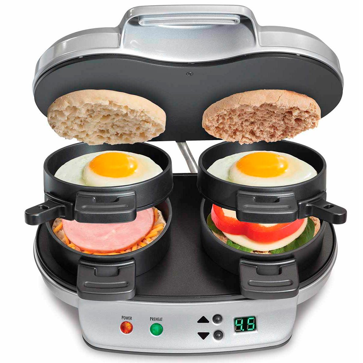 220V Griddler Commercial Iron Panini Press Toastie Grill Sandwich Toaster Maker