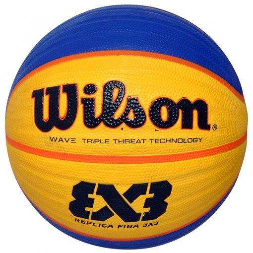 Bola Basquete Wilson Replica Fiba WTB1033XB Azul/Amarelo