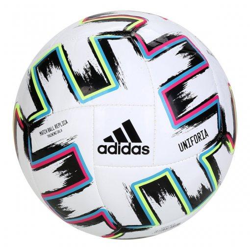 Bola Campo Adidas Uniforia Euro2020 Branco/Azul/Verde/Pink