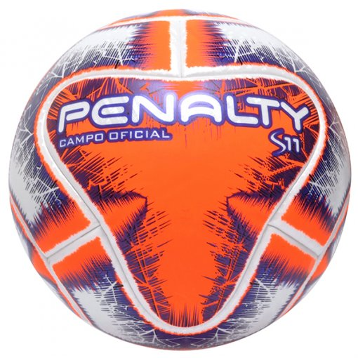 Bola Campo Penalty S11 R1 IX 5415421712 Branco/Laranja/Roxo