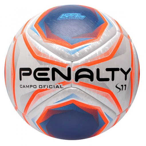 Bola Campo Penalty S11 R1 X 541588 Branco/Azul/Laranja