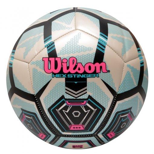 Bola Campo Wilson Hexstinger 5 WTE9900XB0505 Azul/Branco
