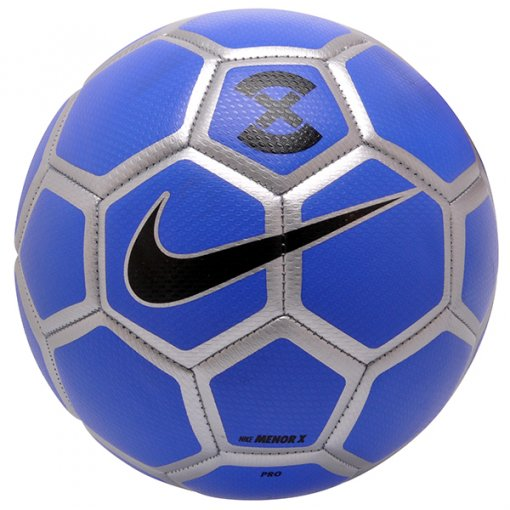 Bola Futsal Nike Menor SC3039-410 Azul/Prata