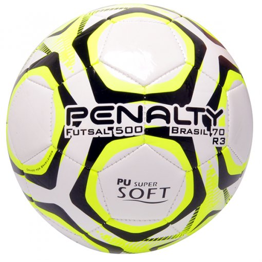 Bola Futsal Penalty Brasil 70 R3 IX 5113111810 Branco/Amarelo/Preto