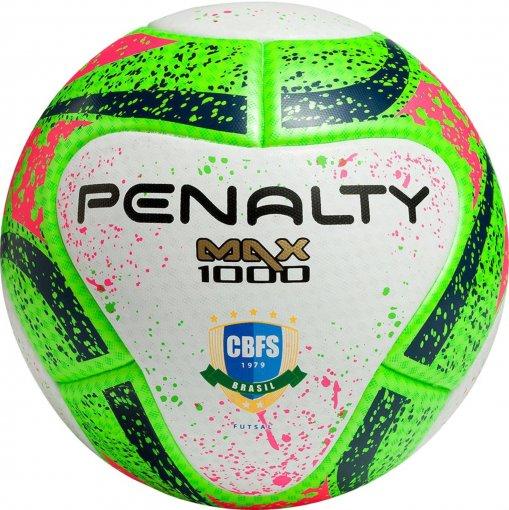 Bola Futsal Penalty Max 1000 541411 Branco/Verde/Rosa