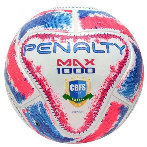 Bola Futsal Penalty Max 1000 IX 5415441565 Branco Rosa Azul 267ccd24460d4