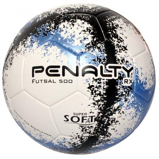 Bola Futsal Penalty RX 500 R3 Fusion 5203091 Branco/Azul/Preto