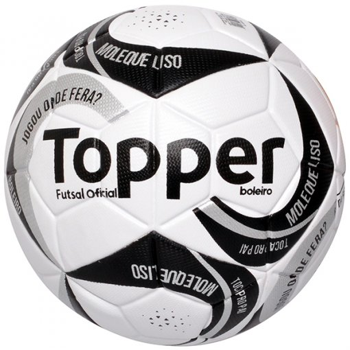 Bola Futsal Topper Boleiro 2 4201172 Branco/Preto