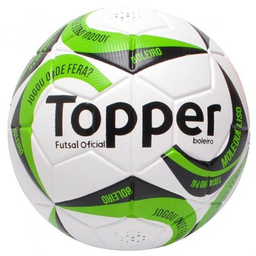 Bola Futsal Topper Boleiro 2 4201172 Branco/Preto/Verde