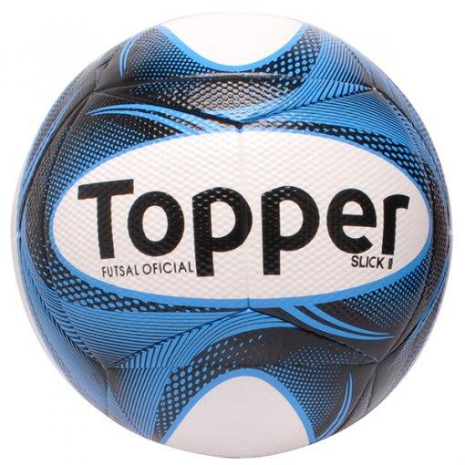 Bola Futsal Topper Slick 2 4201882 Branco/Preto/Azul