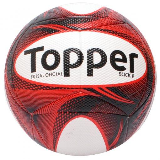 9e815218ce Bola Futsal Topper Slick 2 4201882 Vermelho Preto Branco