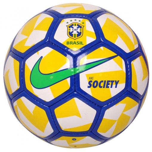 Bola Society Nike CBF SC2919-100 Branco/Azul/Amarelo