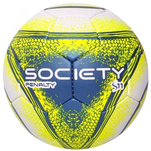 Bola Society Penalty S11 R4 VIII 510842 Branco/Amarelo