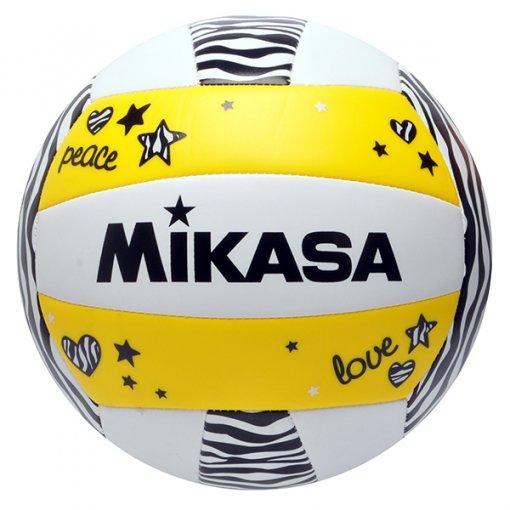 Bola Vôlei Mikasa VXS-ZB-Y Branco/Amarelo/Preto